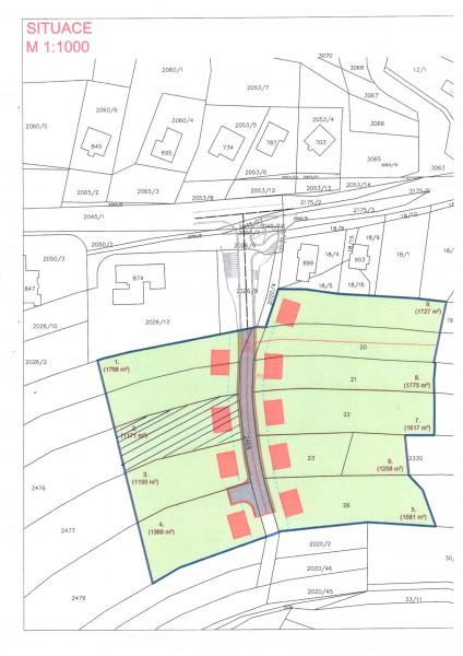Prodej stavebního pozemku Pozlovice  REZERVACE