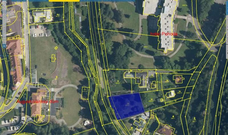 Prodej stavebního pozemku v Luhačovicích - Jurkovičova alej